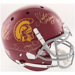 USC Trojans Full-Size Authentic On-Field Helmet Signed by (4) with Charles White, Marcus Allen, Matt