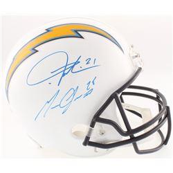 Melvin Gordon  LaDainian Tomlinson Signed Chargers Full-Size Helmet (Radtke COA  Tomlinson  Gordon H