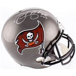 """Derrick Brooks Signed Buccaneers Full-Size Helmet Inscribed """"HOF -14"""" (Radtke COA)"""