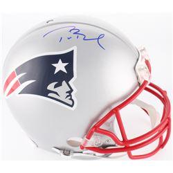 Tom Brady Signed Patriots Full-Size On-Field Helmet (Radtke COA  TriStar Hologram)
