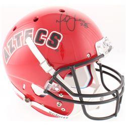 Marshall Faulk Signed San Diego State Aztecs Full-Size Throwback Helmet (Beckett COA)