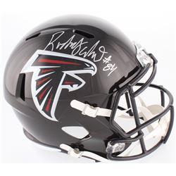 Roddy White Signed Falcons Full-Size Speed Helmet (Beckett COA)