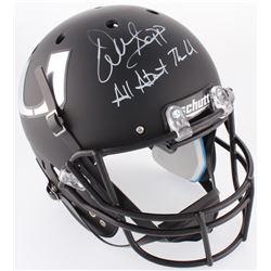 "Warren Sapp Signed Miami Hurricanes Full-Size Matte Black Helmet Inscribed ""All About The U"" (JSA CO"