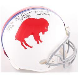 O.J. Simpson Signed Buffalo Bills Full-Size On-Field Throwback Helmet with (5) Inscriptions (JSA COA