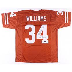 "Ricky Williams Signed Texas Longhorns Jersey Inscribed ""1998 Heismen"" (Radtke COA)"