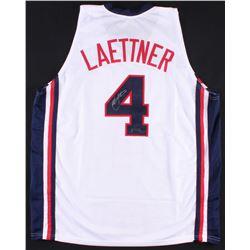 "Christian Laettner Signed Team USA ""Dream Team"" Jersey (Radtke COA)"
