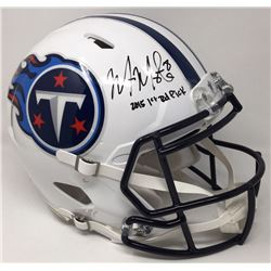 """Marcus Mariota Signed Titans LE Full-Size Authentic On-Field Speed Helmet Inscribed """"2015 1st Round"""