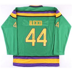 """Elden Henson Signed """"The Mighty Ducks"""" Jersey Inscribed """"I'll Be A Duck"""", """"Bash Brothers""""  """"Fulton R"""