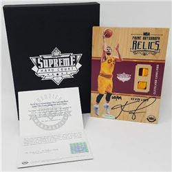 Kevin Love Signed LE 2016-17 Upper Deck Supreme Hardcourt NBA Relics Floor With (4) Jersey Swatches