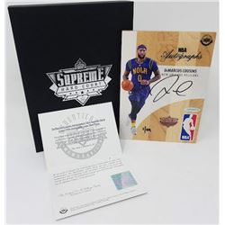 DeMarcus Cousins Signed LE 2016-17 Upper Deck Supreme Hardcourt NBA Autographs Relic Floor (UDA COA)