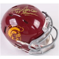 "Mike Garrett Signed USC Trojans Speed Mini Helmet Inscribed ""'65 Heisman"" (Radtke COA)"