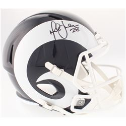 Marshall Faulk Signed Rams Full-Size Speed Helmet (JSA COA)