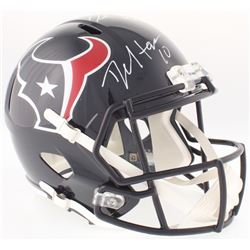 DeAndre Hopkins  Deshaun Watson Signed Texans Full-Size Speed Helmet (Beckett COA, Radtke COA,  Wats
