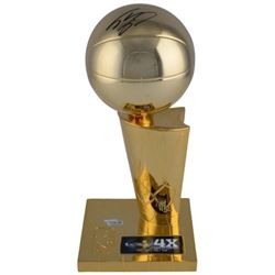 """Shaquille O'Neal Signed """"4x NBA Champion"""" Lakers Trophy (Fanatics Hologram)"""