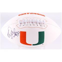 Warren Sapp Signed Miami Hurricanes Logo Football (JSA COA)