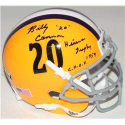 "Billy Cannon Signed LSU Tigers Mini-Helmet Inscribed ""Heisman Trophy 1959""  ""C.H.O.F."" (Radtke COA)"