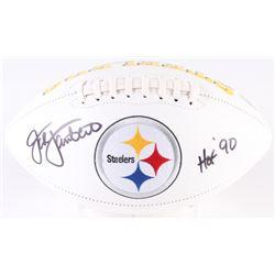 "Jack Lambert Signed Steelers Logo Football Inscribed ""HOF 90"" (Radtke COA)"