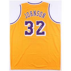 Magic Johnson Signed Lakers Jersey (Radtke COA)