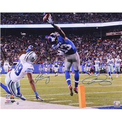 "Odell Beckham Jr.  Eli Manning Signed LE Giants ""The Catch"" 16x20 Photo (Steiner COA)"