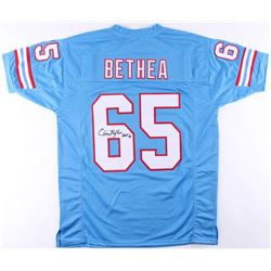 "Elvin Bethea Signed Oilers Jersey Inscribed ""HOF '03 (JSA COA)"