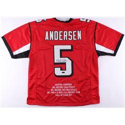 Morten Andersen Signed Falcons Career Highlight Stat Jersey (Radtke Hologram)