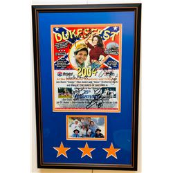 2004 Dukesfest 13.5x21.5 Custom Framed Poster Signed by (6) with John Schneider, Tom Wopat, Catherin