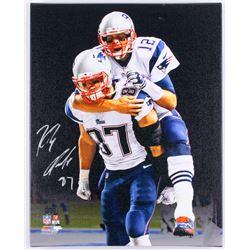 Rob Gronkowski Signed Patriots 16x20 Custom Framed Photo on Canvas (Radtke COA)