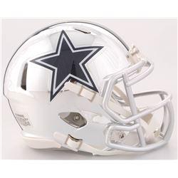 Ezekiel Elliott Signed Cowboys Chrome Speed Mini-Helmet (Beckett COA  Radtke COA)