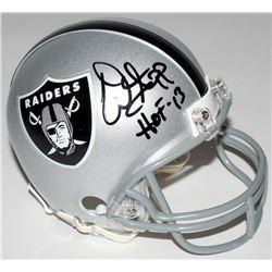 "Warren Sapp Signed Raiders Mini Helmet Inscribed ""HOF 13"" (JSA COA)"