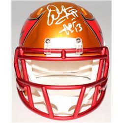"""Warren Sapp Signed Buccaneers Mini Blaze Speed Helmet Inscribed """"HOF 13"""" (JSA COA)"""
