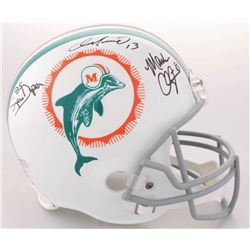 "Dan Marino, Mark Clayton  Mark ""Super"" Duper Signed Dolphins Full-Size Throwback Helmet (Radtke COA)"