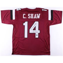 """Connor Shaw Signed South Carolina Gamecocks Jersey Inscribed """"17-0 Home Record"""" (Radkte COA)"""