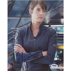 "Cobie Smulders Signed ""Captain America: The Winter Soldier"" 8x10 Photo (PSA COA)"