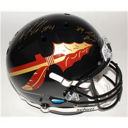 "Anquan Boldin Signed Florida State Seminoles Full-Size Helmet Inscribed ""99 National Champs"" (JSA CO"