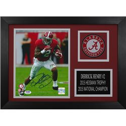 Derrick Henry Signed Alabama Crimson Tide 14x18.5 Custom Framed Photo Display (PSA COA)