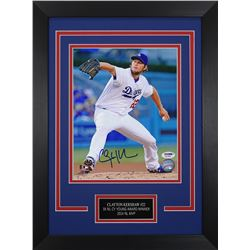 Clayton Kershaw Signed Dodgers 14x18.5 Custom Framed Photo Display (PSA COA)
