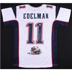 Julian Edelman Signed Patriots Jersey with Custom Stitched Photo (JSA COA)