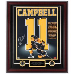 """Gregory Campbell Signed Bruins """"The Ultimate Warrior"""" 23x27 Custom Framed Photo Display (Campbell Ho"""