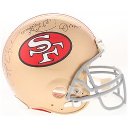 Dwight Clark  Joe Montana Signed 49ers Full-Size Authentic On-Field Helmet with Hand-Drawn Play (JSA