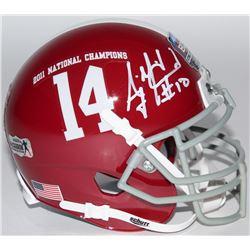 A.J. McCarron Signed Alabama Crimson Tide 2011 National Champions Mini-Helmet (Radtke COA)