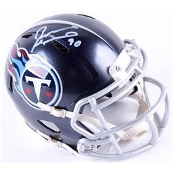 Jevon Kearse Signed Titans Mini Speed Helmet (Radtke COA)