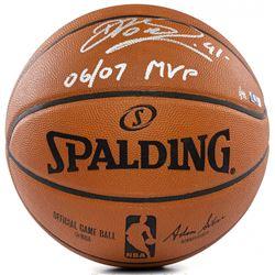 "Dirk Nowitzki Signed LE Official NBA Game Ball Inscribed ""06/07 MVP"" (Panini COA)"
