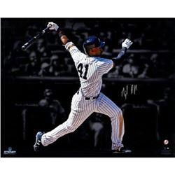 "Miguel Andujar Signed Yankees ""Hitting"" 16x20 Photo (Steiner Hologram)"