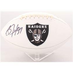 Bo Jackson Signed Raiders Logo Football (Radtke COA)