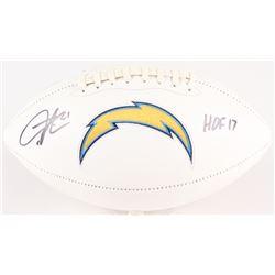 "LaDainian Tomlinson Signed Chargers Logo Football Inscribed ""HOF 17"" (Tomlinson Hologram)"