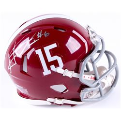 HaHa Clinton-Dix Signed Alabama Crimson Tide Speed Mini Helmet (Dixon Hologram)