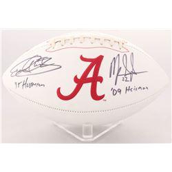 "Derrick Henry  Mark Ingram Signed University of Alabama Crimson Tide Logo Football Inscribed ""'15 He"