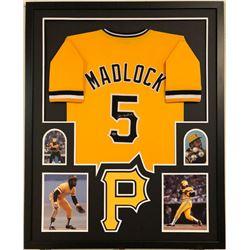Bill Madlock Signed Pirates 34x42 Custom Framed Jersey Display (Madlock Hologram)