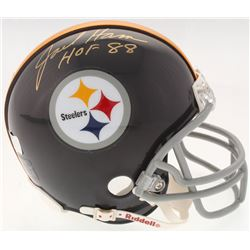 "Jack Ham Signed Steelers Throwback Mini-Helmet Inscribed ""HOF 88"" (Radtke Hologram)"