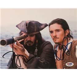 "Johnny Depp  Orlando Bloom Signed ""Pirates of the Caribbean"" 8x10 Photo (PSA LOA)"